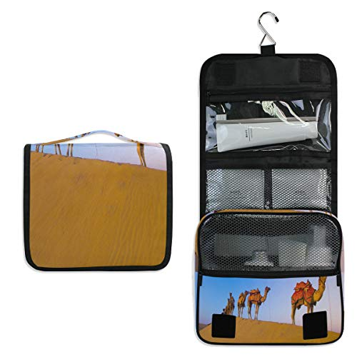- Hanging Toiletry Bag Desert Camel Team Large Cosmetic Makeup Travel Organizer for Men & Women with Sturdy Hook