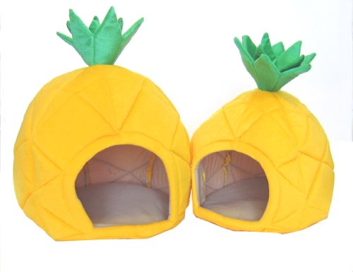 YML Pineapple Pet Bed house, Set of 2, My Pet Supplies