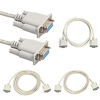 1.5M 1.5m//3m//5m RS232 DB9 9 Pin Female to Female Serial Port Cable Industrial Adapter Connector Extending Wire