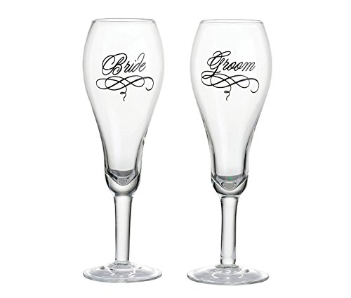 Lillian Rose Toasting Glasses - Lillian Rose Bride and Groom Wedding Toasting Glasses