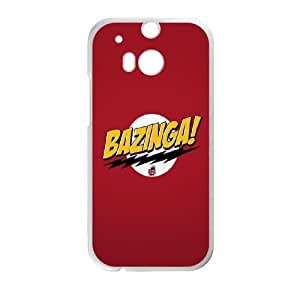 HTC One M8 Cell Phone Case White The Big Bang Theory Bazinga SU4309103