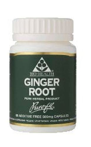 (10 PACK) - Bio-Health Ginger Root 500Mg Capsules   60s   10 PACK - SUPER SAVER - SAVE MONEY