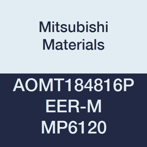Pack of 10 Mitsubishi Materials AOMT184816PEER-M MP6120 Coated Carbide Milling Insert Round Honing 0.063 Corner Radius Class M 0.189 Thick Parallelogram 85/°