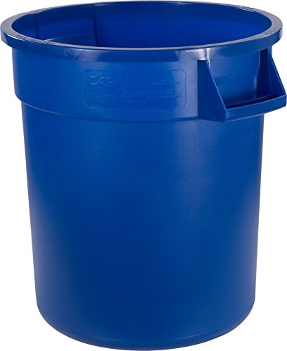 Carlisle 34101014 Bronco Round Waste Container Only, 10 Gallon, Blue (Pack of 6)