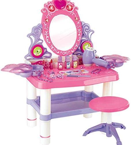 子供のための化粧台 子どもの遊びハウスシミュレーションガールシリーズドレッサー玩具メイクパズル玩具セット 子供のための素晴らしい贈り物 (Color : Pink, Size : 62x33x64.5cm)