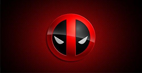 Deadpool Logo Photo License Plate