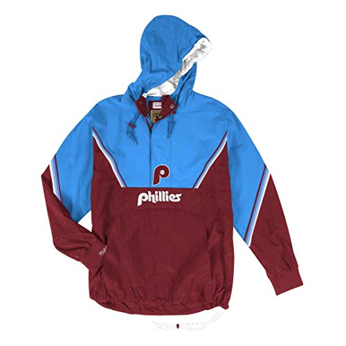 - Mitchell & Ness Philadelphia Phillies MLB Men's Anorak Half Zip Pullover Jacket