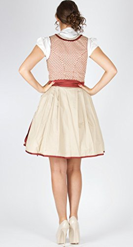 Bergweiss rot taupe 55er 14986 Dirndl wHP0nqS8q