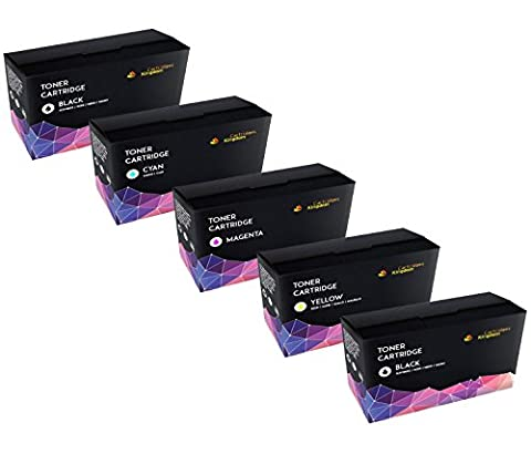 5-PACK Cartridges Kingdom Compatible TN221 TN225 Toner Cartridges for use in HL-3140CW, HL-3170CDW, MFC-9130CW, MFC-9330CDW, MFC-9340CDW - (Brother Mfc 9340 Cdw Ink)