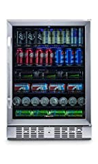 The Newair ABR-1770 177 Can Beverage Cooler allows you to keep cans perfectly chilled and ready to enjoy around the clock and features streamlined, slim proportions to fit easily into modern living spaces.