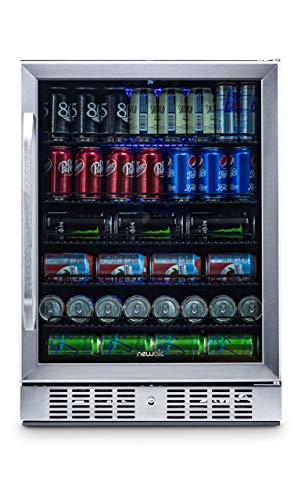 NewAir Built-In Beverage Cooler and Refrigerator, Stainless Steel Mini Fridge with Glass Door,  177 Can Capacity, ABR-1770 from NewAir
