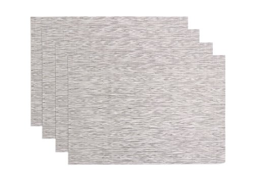 Ritz TechStyle Reversible Woven Grass Cloth Placemats, Oatmeal, Set of 4