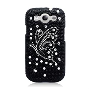 Cerhinu Aimo SAMI9300PCLDI669 Dazzling Diamond Bling Case for Samsung Galaxy S3 i9300 - Retail Packaging - Butterfly Black...