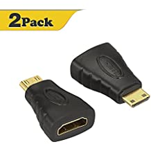 HDMI Mini Adapter,VCE (2-PACK) Gold Plated Mini HDMI to HDMI Adapter