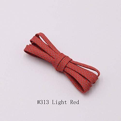 TMYQM 靴紐のランナーは靴を実行するためのベルトスポーツの安全靴ひも靴ひもを織り (Color : 313 Light Red 3M, Size : 120CM)