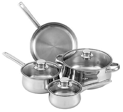 Amazon.com: Tuxton Home Nevada 7 piezas Utensilios de cocina ...