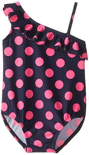 Osh Kosh Baby Girls' Pink Dot 1 Piece, Navy, 24 Months