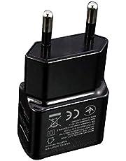 Bärbar USB -strömadapter Mobiltelefonladdare Eluttag Resor svart EU