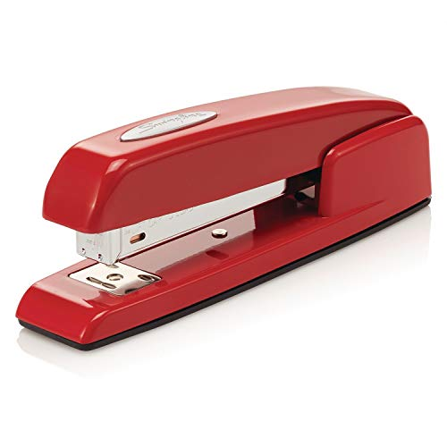 Swingline Stapler, 747 Iconic Desktop Stapler, 25 Sheet Capacity, Rio Red (74736) -
