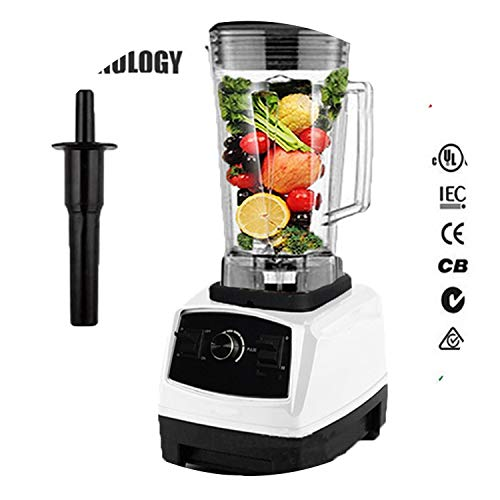 Bpa Free 2200W Heavy Duty Commercial Blender Professional Blender Mixer Food Processor Japan Blade Juicer Ice Smoothie Machine,White,Uk Plug (Best Smoothie Maker Uk)