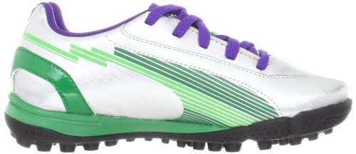 Green TT evoSPEED de Argent football Puma mixte Jr team Silber Chaussures 5 03 Silver Puma enfant qEAwd6xU