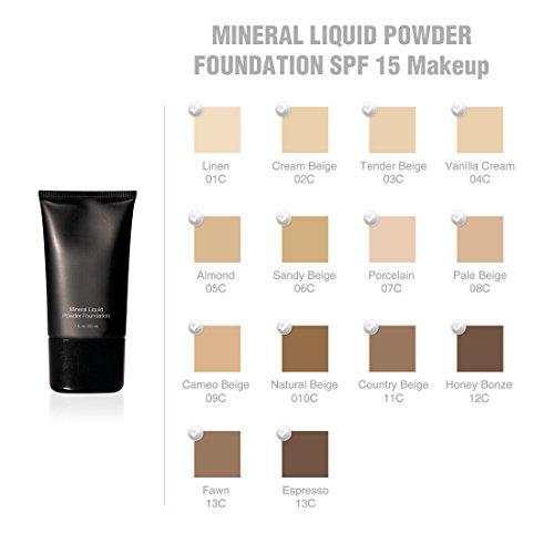 Jolie Mineral Liquid Powder Foundation SPF 15 1 Oz. Hypoallergenic - For All Skin Types (Cream Beige)