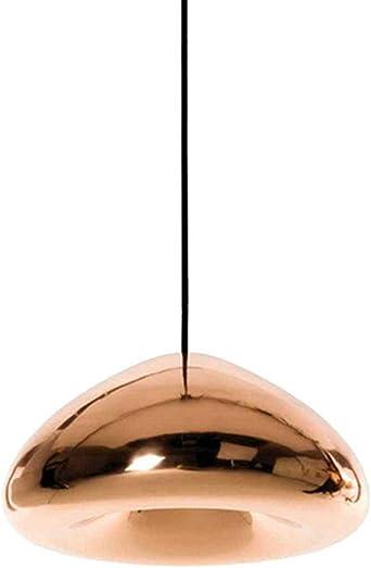 Vaso Pantalla Colgante,irregular Redondo Lámpara Colgante Galjanoplastia Luz Colgante Lámpara De Techo Empotrable Para Cocina Escaleras Rosado 18cm(7inch): Amazon.es: Iluminación