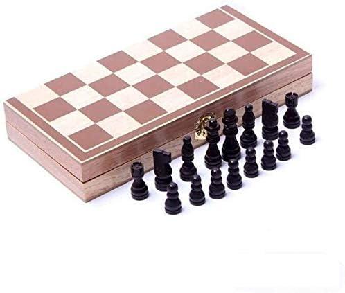 Schaken Schaakspel Opvouwbare schaakspel Houten schaakbord Travel Spelletjes Schaken Entertainment Game Board Toys SCRT