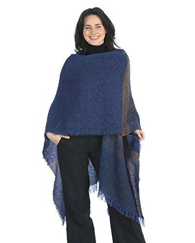 Kerry Woollen Mills Celtic Ruana Long Shawl Irish Wool Lambswool (Tweed Wrap)
