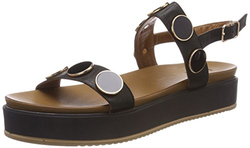 8715 Women's Ankle Black 16781933 Inuovo Strap Sandals Black Sw5dFqEA