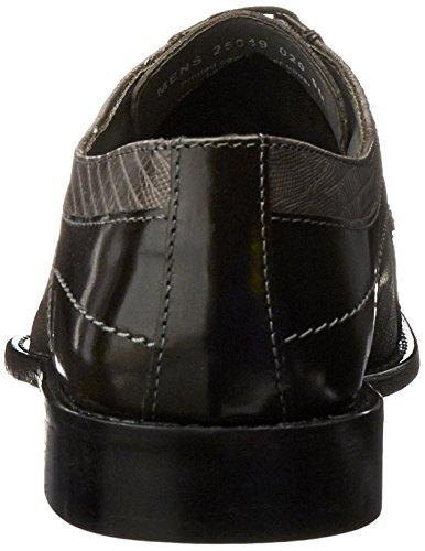 Stacy Adams Mens graziano Leather Sole Bike Toe Oxford Shoe Gray rLsLKc