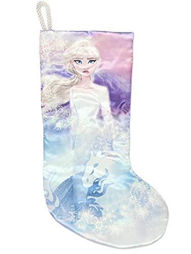 "Disney Kurt Adler Frozen Elsa Anna Girls 19"" Christmas Holiday Stocking (One Size, Elsa)"