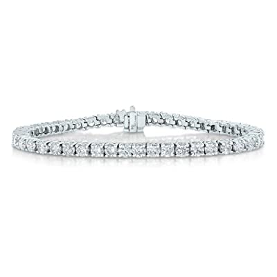 5 cttw SI2-I1 AGS Certified 14K White Gold Diamond Tennis Bracelet (G-H) from Vir Jewels