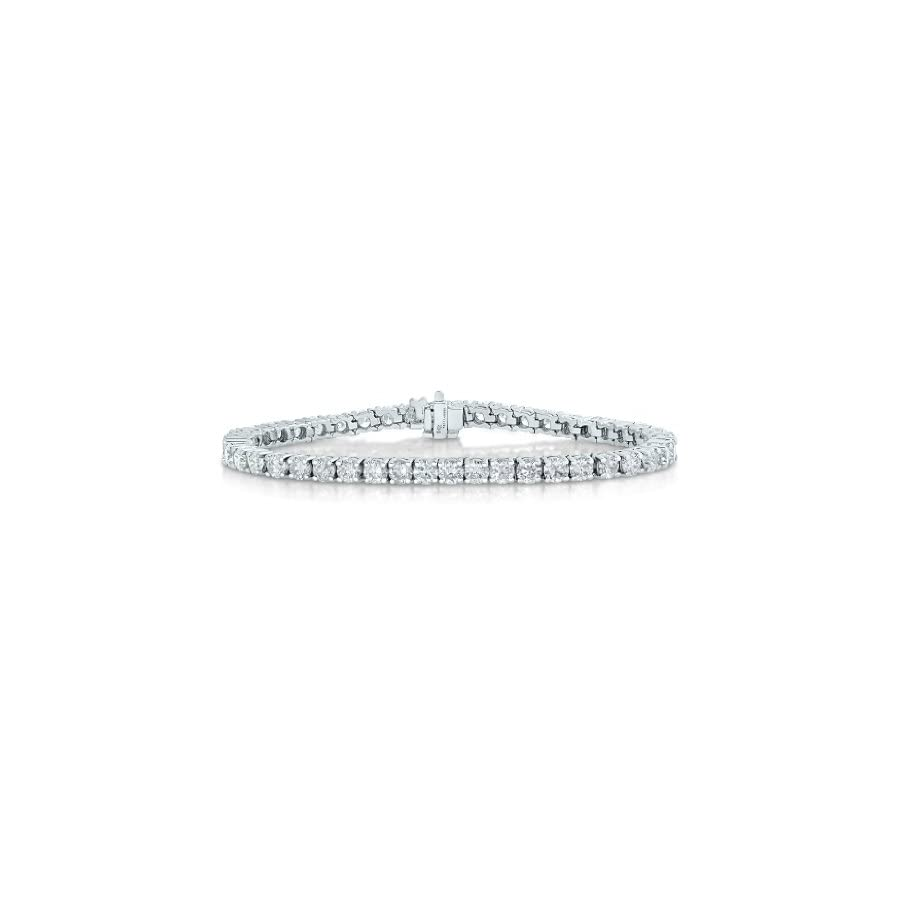 2 CT SI2 I1 Certified Diamond Bracelet 14K White Gold (H I)