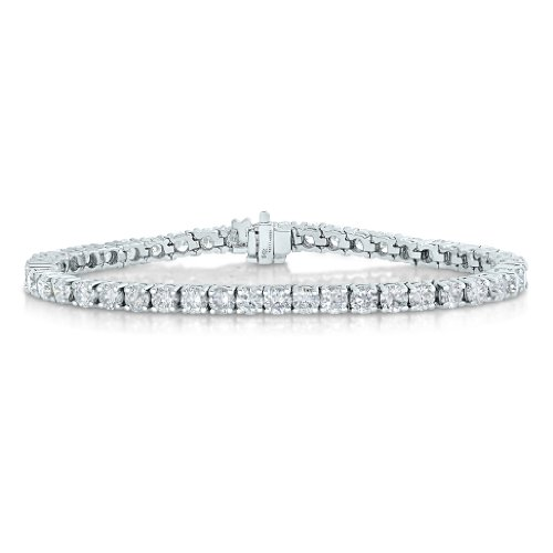 Diamond Womens Tennis Bracelet - 2 CT AGS Certified I1-I2 Clarity Diamond Bracelet 14K White Gold (H-I)