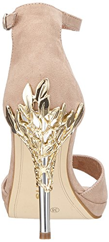 Sandales 28021 Bride Cheville gold Femme Tamaris nude Beige qTRf4dnW