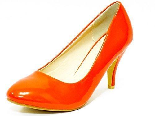 Ktc Women's Mid Heel Court Shoes Orange 3KLE5H8HrZ