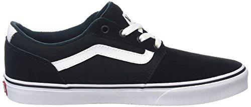 VANS D M Shoes White Stripe 10 M 5 Women Chapman US B 12 US Canvas Suede Black UqvUprx