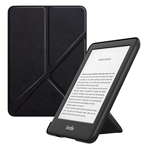 MoKo Case Fits All-New Kindle (10th Generation - 2019 Release Only), Standing Origami Shell Cover with Auto Wake/Sleep, Will Not Fit Kindle Paperwhite 10th Generation 2018 - Black