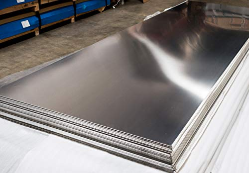 "430 Stainless Steel Sheet Kick Plate 18 Gauge 0.05/"" inch//1.27 mm 26/"" X 26/"""