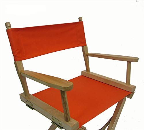 - Replacement Cover Canvas for Directors Chair (Round Stick) - Orange
