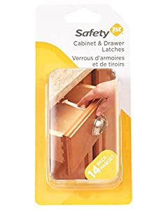 Safety1st - Wide Grip Cabinet and Drawer Latches - 14 Pack, White