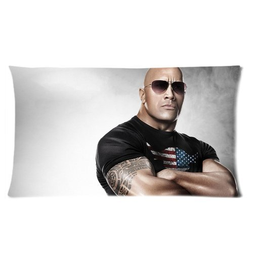 Stylish Design Winner The Rock Dwayne Johnson Cool Man Picture personalized pillowcase hotsale for Children 20*30 inches Two sides-3
