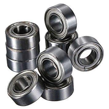 Metal Shielded Bearing - TOOGOO(R) 10pcs Miniature Sealed Metal Shielded Metric Radial Ball Bearing Model: MR105 ZZ 5x10x4MM