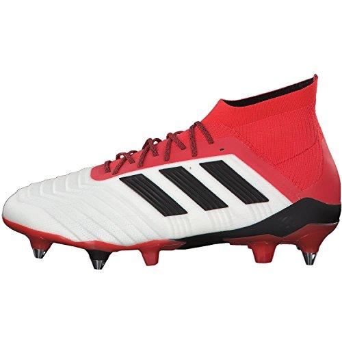 Scarpe Da Calcio Adidas Mens Predator 18.1 Sg, Bianco, 44 eu Bianco (ftww / Cblack / Reattore)