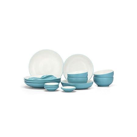 Xiaoningmeng Tazón, tazón (18 Piezas) Tazón de Porcelana + Se ...