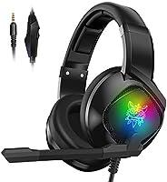 Audífonos Gamer con Micrófono para PS4 Xbox One PC, Diadema Auriculares Alámbrico Estéreo para Juegos Cancelac