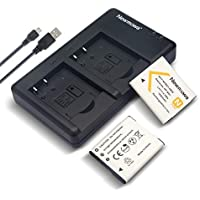 Newmowa NP-BN1 Battery (2 Pack) and Dual USB Charger Kit for Sony NP-BN1 and Sony Cyber-shot DSC-QX10, DSC-QX30, DSC-QX100, DSC-T99, DSC-TF1, DSC-TX5, DSC-TX7, DSC-TX9, DSC-TX10, DSC-TX100V, DSC-W310, DSC-W320, DSC-W330, DSC-W350, DSC-W380, DSC-W510, DSC-W530, DSC-W570, DSC-WX5, DSC-WX9, DSC-WX30 Digital Cameras