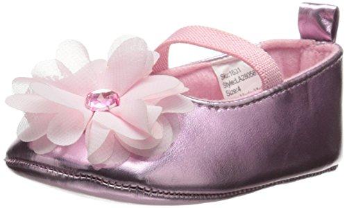- Laura Ashley LA28058 Ballerina Flat (Infant/Toddler), Pink Metal, 2 M US Infant