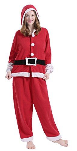 Ethel Adult Santa Claus Costum Pajamas Cartoon Sleepwear for Christmas (Ethel Halloween Costume)